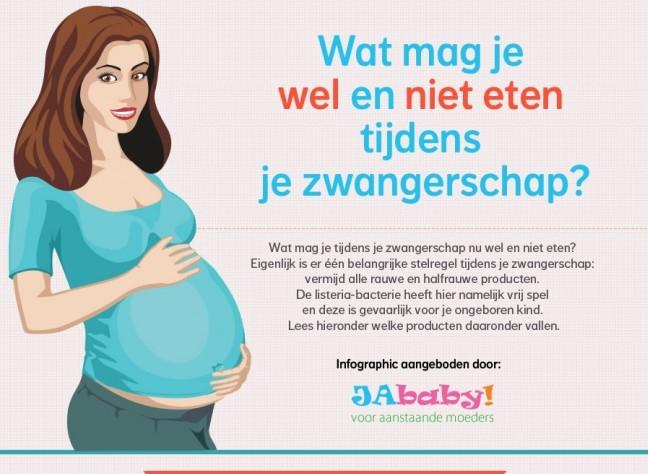 wat mag je wel eten als je zwanger bent