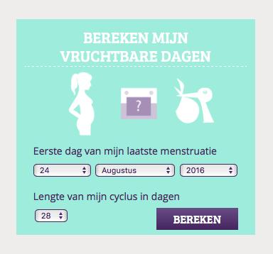 menstruatiecyclus tool vruchtbare dagen bereken tips zwanger worden MAMA to the max