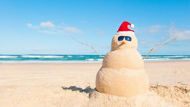 Sneeuwpop op het strand