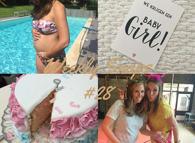 weekly snaps 28 foto dagboek zwanger gender reveal party MAMA to the max