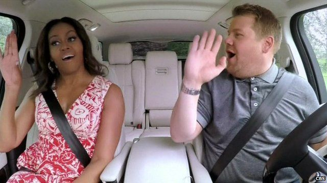 Michelle Obama karaoke James Corden Late night