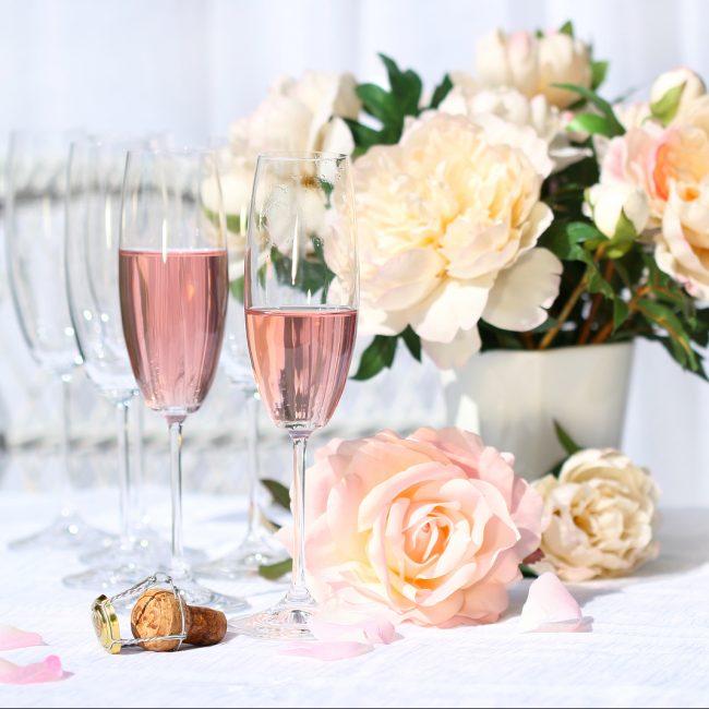 kraamvisite babyborrel champagne bloemen roze MAMA to the max