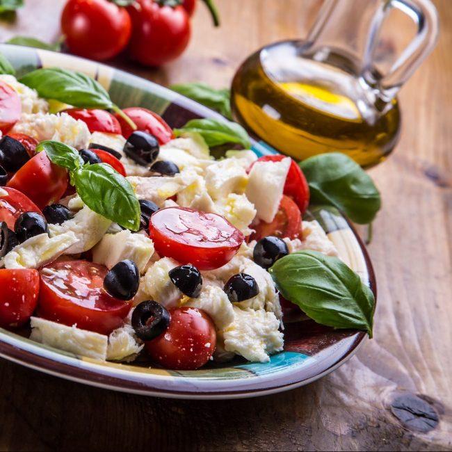 Caprese. Caprese salad. Italian salad. Mediterranean salad. Ital