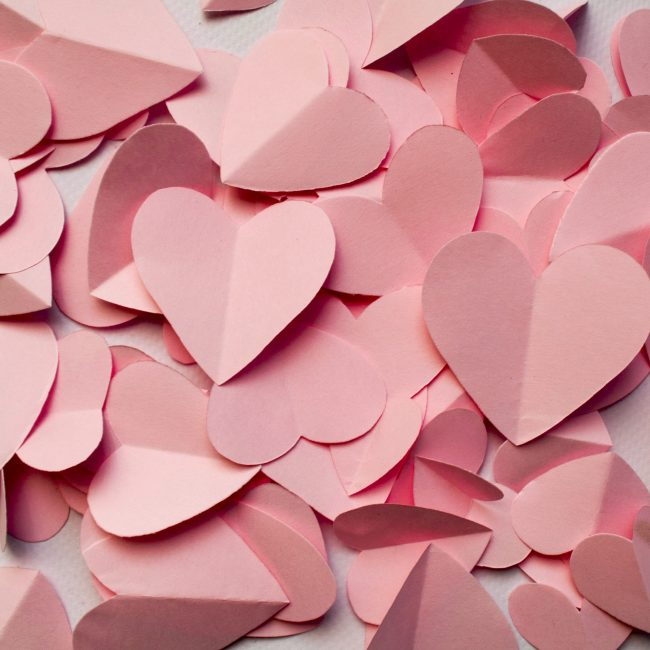 Romantic Background Of Pink Hearts