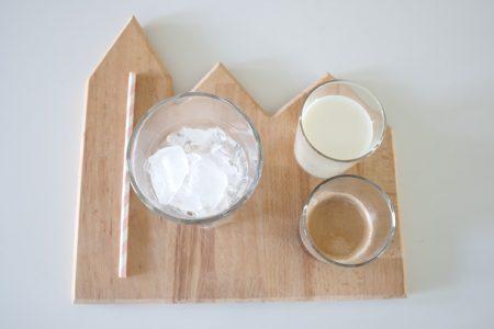 ingrediënten voor een lekker simpele ijskoffie