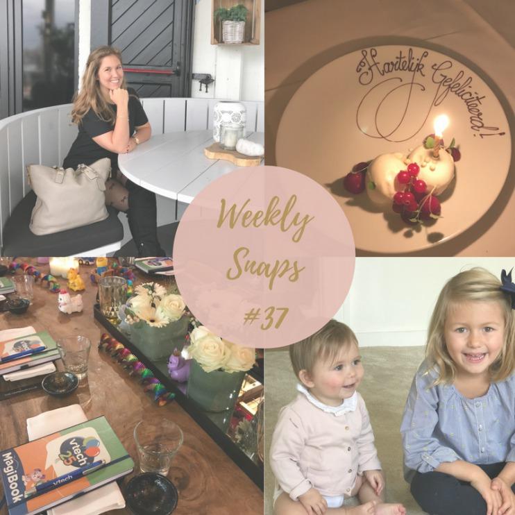 Weekly Snaps 37 wekelijkse dagboek moederschap blogger MAMA to the max