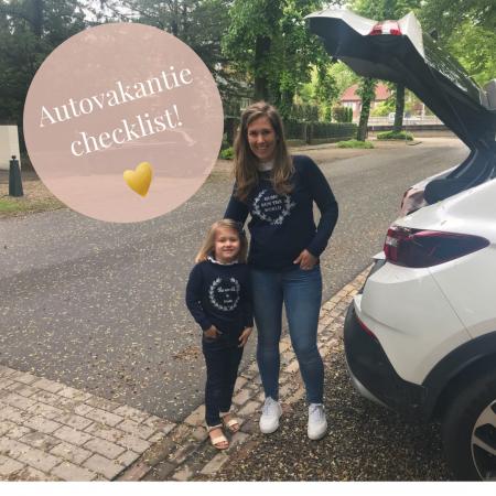 Autovakantie checklist Opel Grandland X kinderen