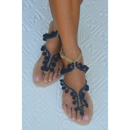 Eat play love sandalen dames pompoms