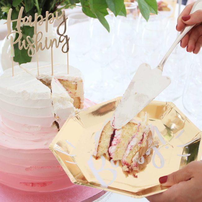 Babyshower organiseren Partydeco taart