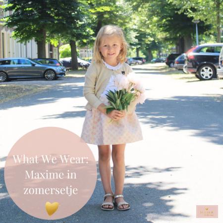 What We Wear Maxime, Kleertjes.com, zomersetje voor kleuter meisje