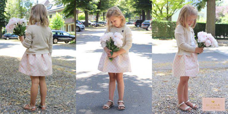 zomersetje gouden rok Nono kleertjes.com