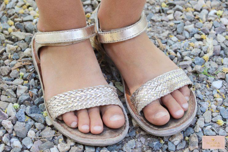 zomersetje gouden rok Nono kleertjes.com sandalen gioseppo