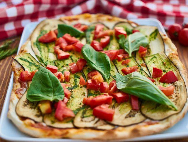 kindertraktatie, pizza met courgette