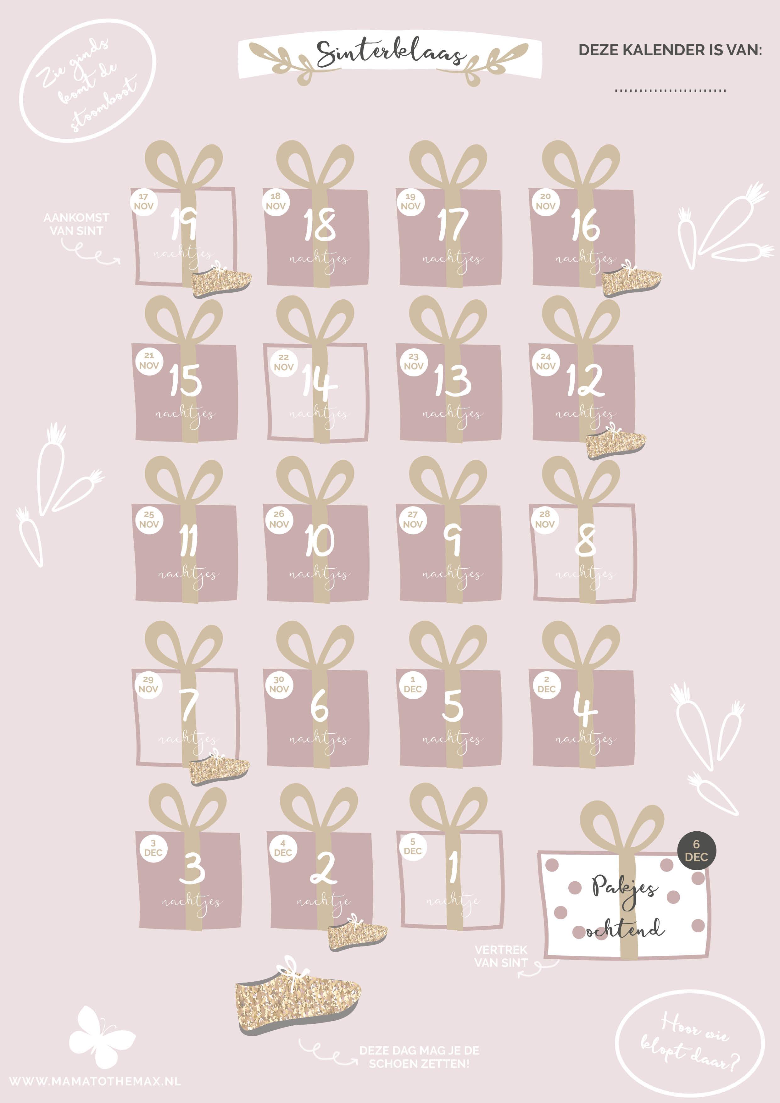Aftelkalender Sinterklaas pakjesochtend