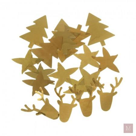 gouden tafelconfetti kerst hema shoplog