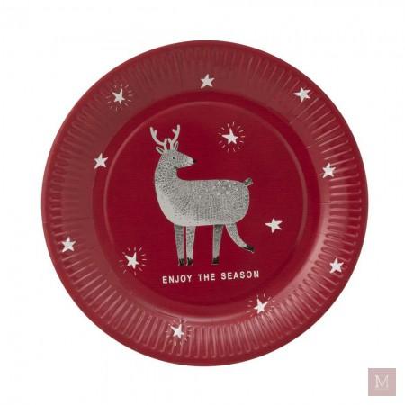 wegwerpbordjes kerst met rendier hema shoplog