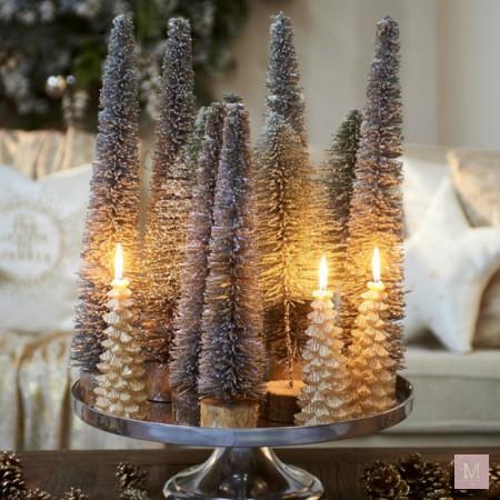 kerstdecoratie riviera maison gouden kaarsen kerstboom