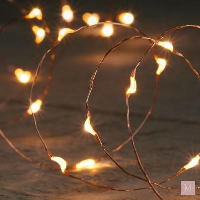 koperdraad met lampjes kerst decoratie