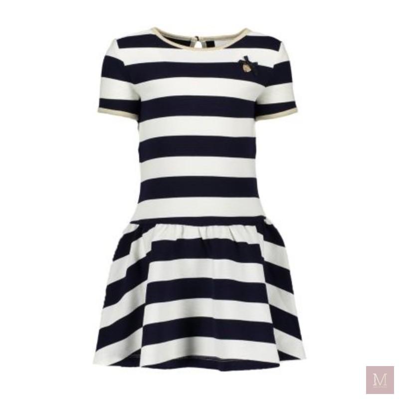 chique jurkje voorjaar donkerblauw gestreept kleertjescom mamatothemax