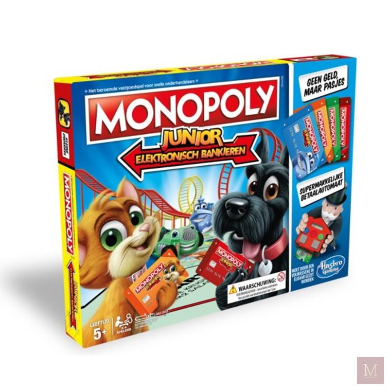 cadeautip kinderen spel monopoly junior elektronisch bankieren mamatothemax
