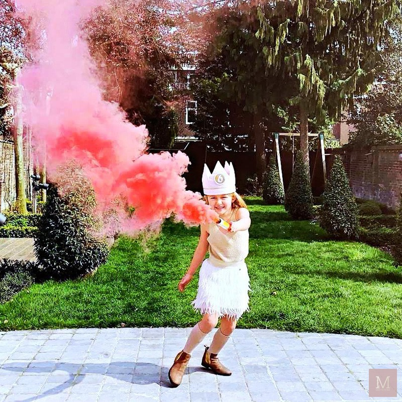 rookbom rookfakkel roze verjaardag bruiloft mamatothemax