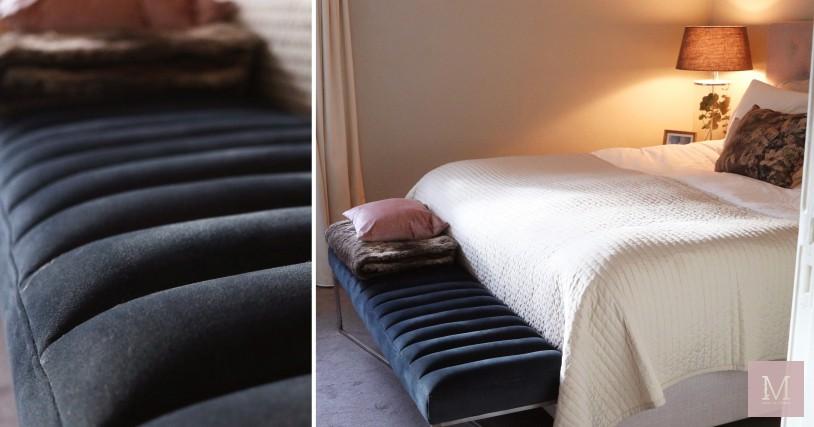 bankje voor achter het bed velvet riviera maison mamatothemax